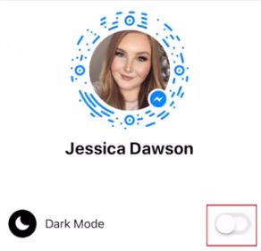 Use Facebook Messenger dark mode