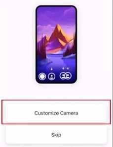 customize camera instagram threads