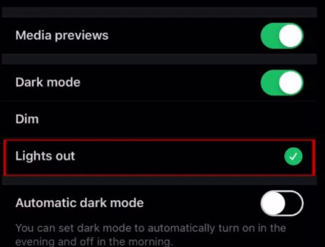 how to automatic dark mode twitter